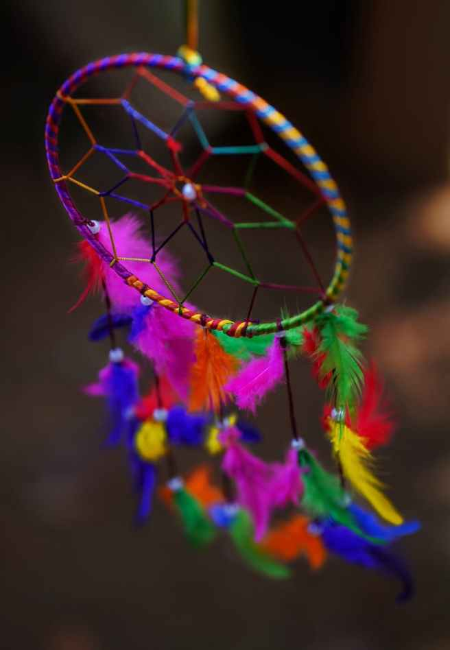 selective focus photo of dreamcatcher
